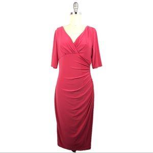 Lauren Ralph Lauren Dress 2 XS Career Sheath Pink